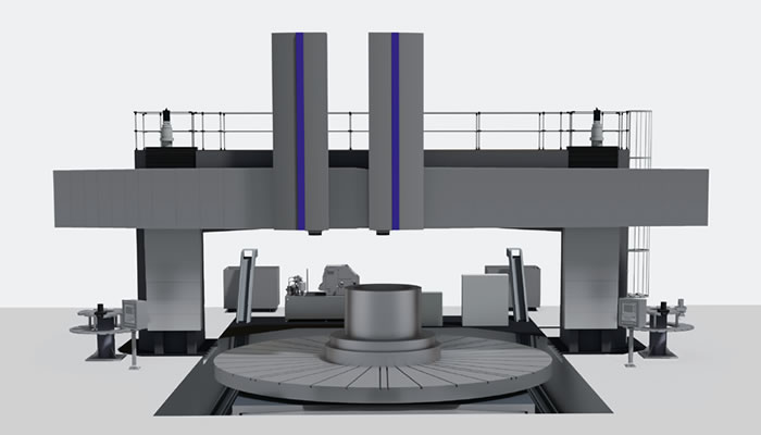 Successful product expansion: vertical lathe ProfiTurn V 6350 with two turning and milling rams